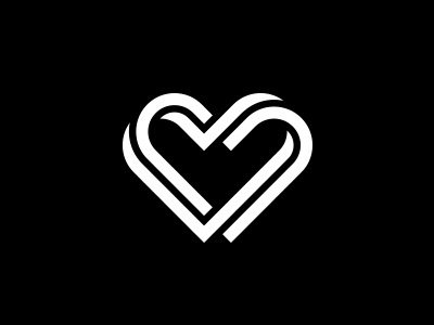 Heart Logo logo heart logo design vector icon symbol line shape