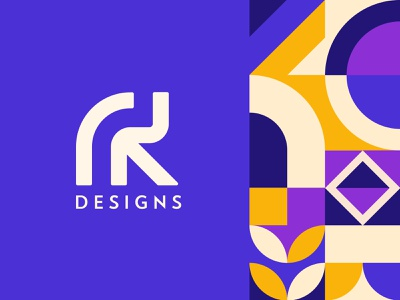 RK Logo Design geometry shape logotype vector pattern rk logo design branding logo