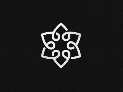 Endless Love Knot logo logo design endless knot love heart geometry shape