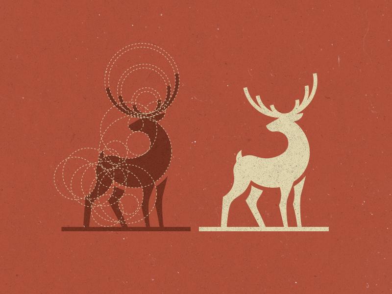 Deer Logo Design stag construct logo animal deer logo design