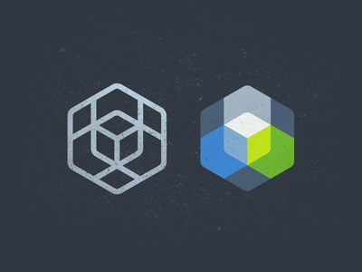 Logo for Inspiry Themes logo polygon cube hexagon themes flat line