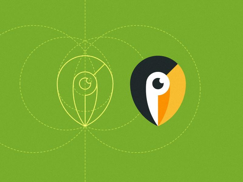 Pin Toucan pin toucan vector bird icon map logo tropical