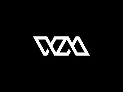 WM Monogram logo wm letterform monogram