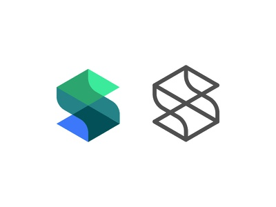 Strength logo construction branding s letters polygon hexagon ilustrator geometry vector logo unipen