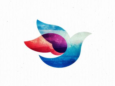 Crop universe dove overlap texture icon ilustrator brand identity branding graphic design unipen logo design logo