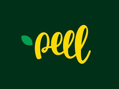 Peel Logo Design logo inspiration one line brand identity type face logo designs branding peel fresh lettering typography logotype logo