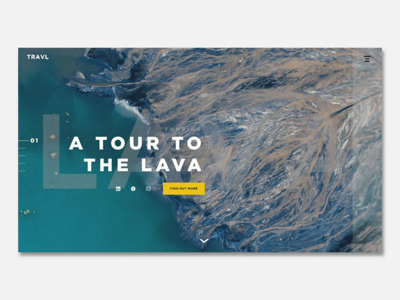 A Tour To The Lava - Travl (Web Design) website graphic design photoshop illustrator vector webflow product design ux ui website builder web design