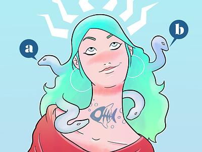 AlterMedusa girl illustration