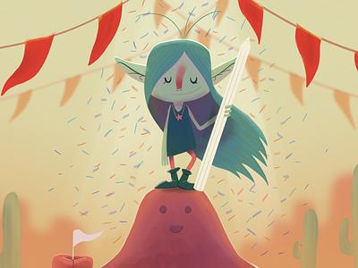 Goblin Winner goblin children book illustration illustration