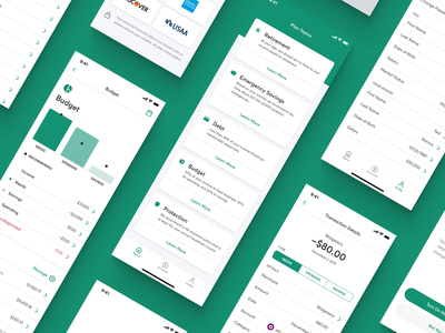 Financial Wellness App ux  ui product interface mobile app