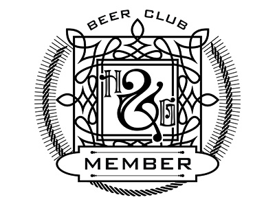 H &G Beer Club typography beer club graphic design monogram logo