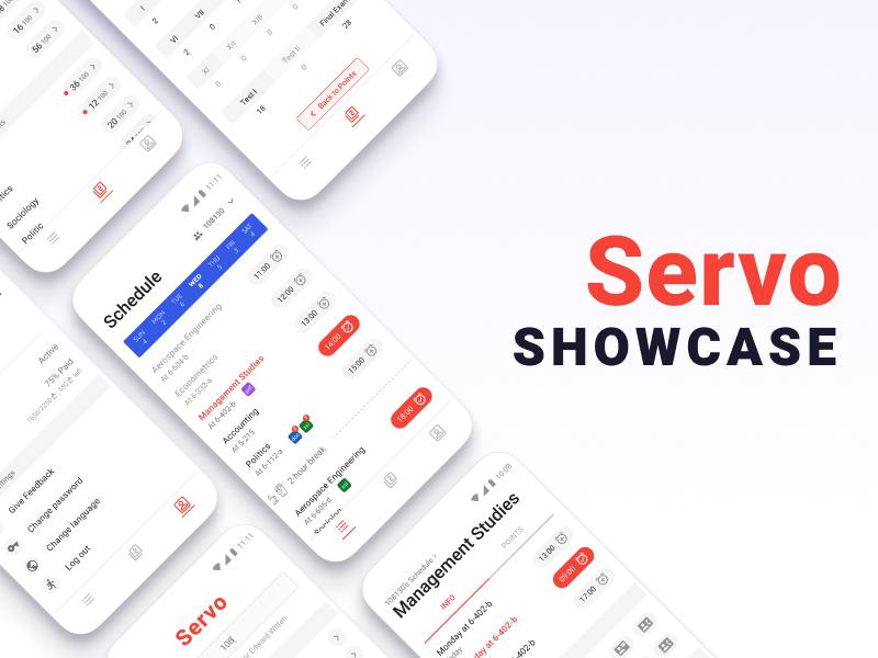 Servo - app for academic process overview points schedule illustration story showcase inspiration uidesign uxdesign university app design ux ui