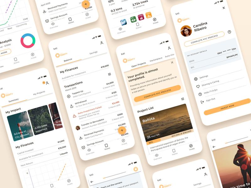 GoParity finance app financial finance chart charity investing invest investment investor ux  ui ux ui inspiration design app design app uxdesign uidesign