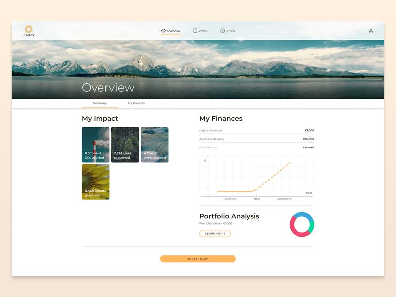 Goparity Desktop charts charity finance investment investing investor uxdesign uidesign design ux ui