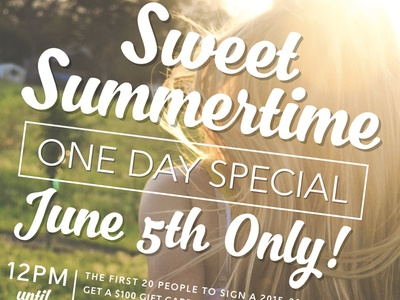 Summertime Special Flyer