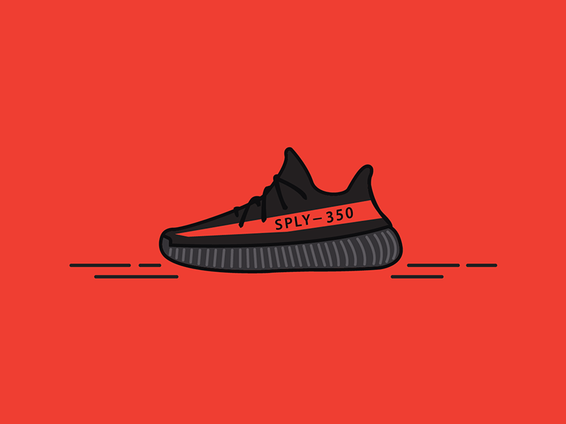 ed1b1e1d5 Yeezy Boost 350 Vector Illustration by Frank Burder