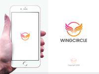Wings Circle Logo Template