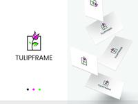 Tulip Frame Logo Template