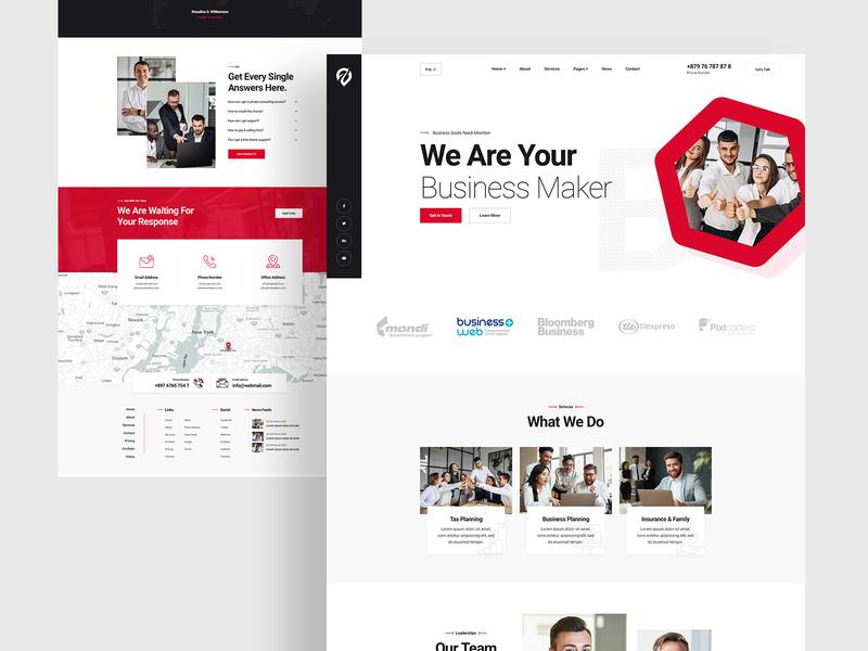 Buren Finance/Consultancy/Business Website Design