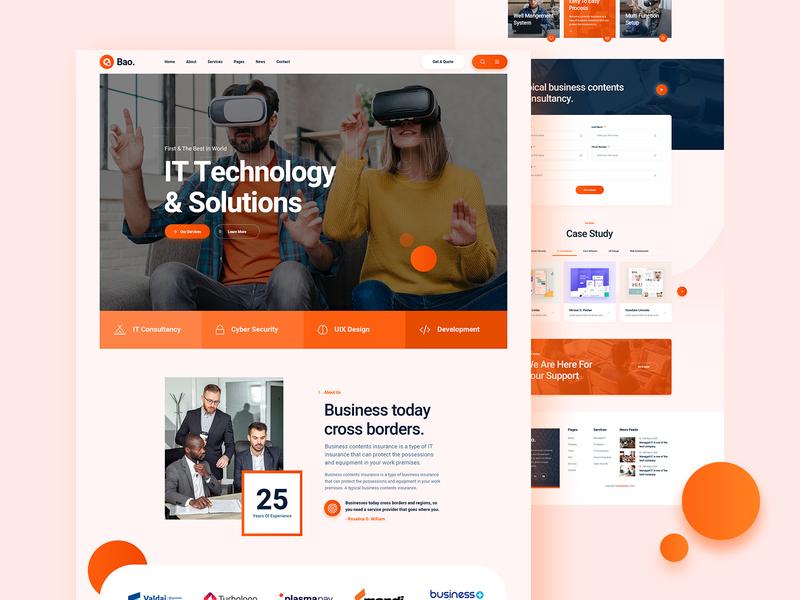 Bao IT Service Website Design about service website service footer header website business website landing page landingpage ux design ui design ux ui business it