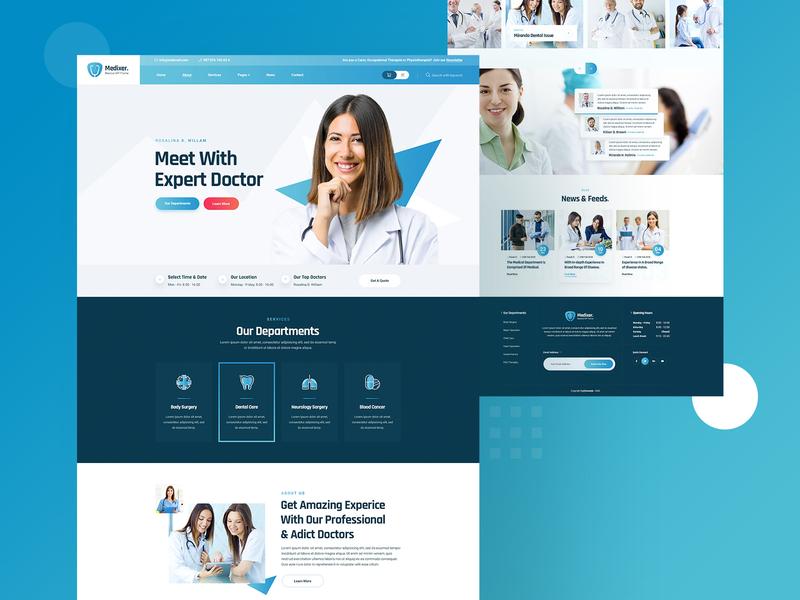 Medixer Medical Website Design
