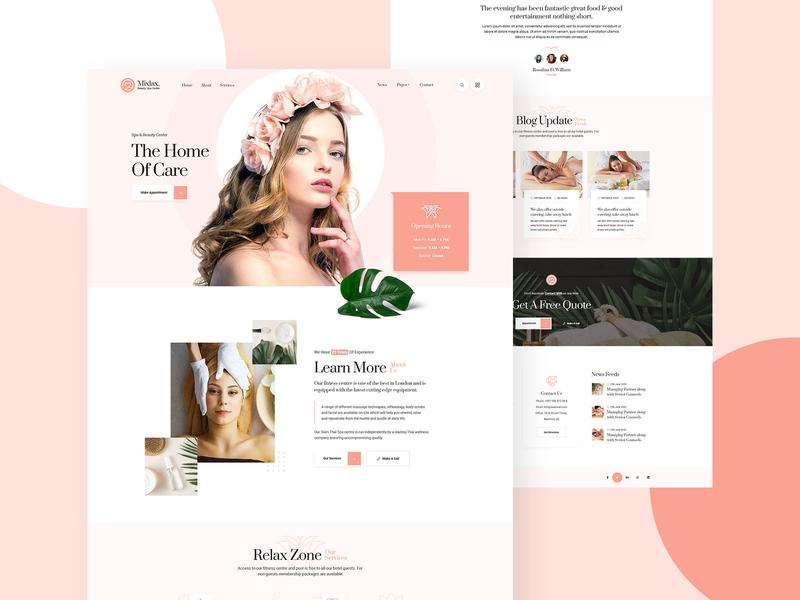 Mixlax Spa & Beauty Website Design