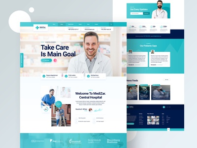 Hospital Website Designs Themes Templates And Downloadable Graphic Elements On Dribbble