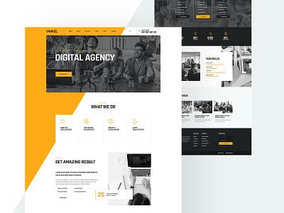 Yankee Digital Agency Website Design seo agency service footer header onepage agency website landing page landingpage seo digital agency ux design ui design ux ui design website agency digital yankee