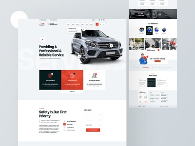 Autixir Car Services & Auto Mechanic Website Design hourly accessories element app ux design creative car website car service website car service landing page service clean footer minimal website header landingpage ux ui