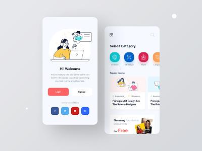 Online Learning Platform fixed saas platform online app learning app app design online course ux design ui design ux ui learning platform online learning online