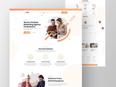 Elight Marketing Agency Website Design ux design ui design service minimal footer website header landingpage ux ui digital agency marketing agency marketing agency elight