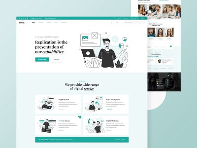Pixila startup agency website design sass service footer header popular trending 2021 trend new design 2021 design illustrations isometric ux design ui design ux ui design website agency startup pixila