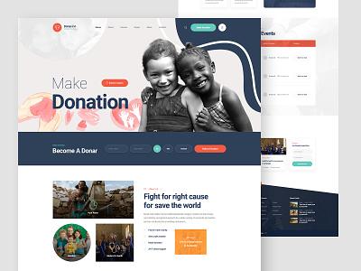 Donacion Charity Fundraise Website Design header free psd freebie charity website charity app app ui design landing page landingpage ux ui design website fundraise charity donacion