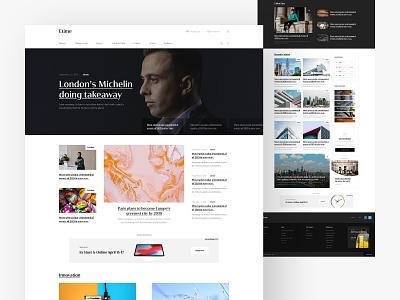 Etime Minimal Blog Design minimal blog minimal website trend news app ux design ui design ux ui personal blog enews newspaper blog minimal etime