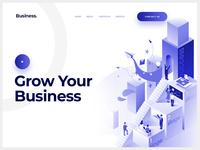 Business Website Header Exploration.