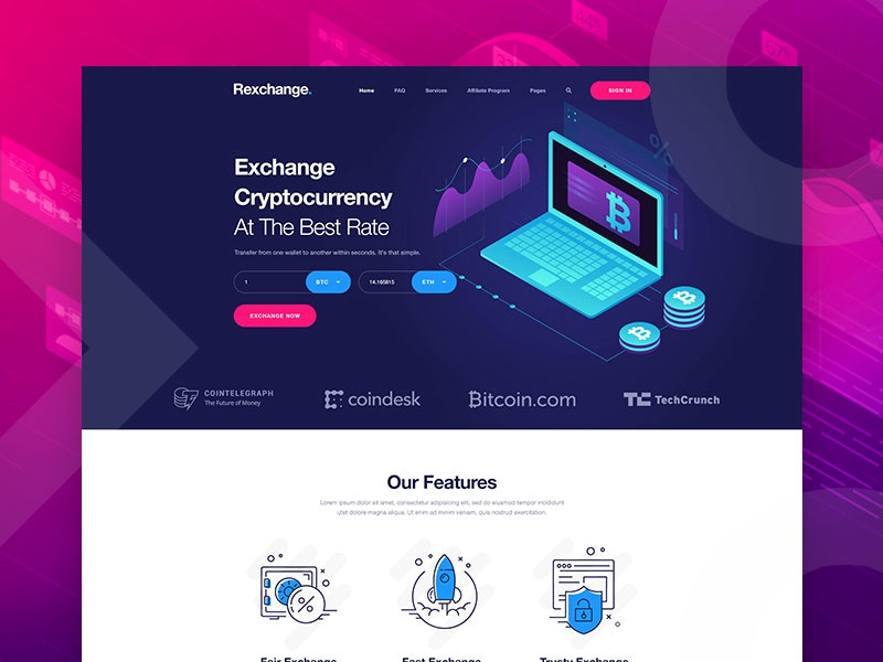 cryptocurrency exchange free templates