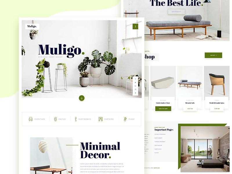 Muligo Minimal Home Decor Website Exploration By Shuvo Uithemes