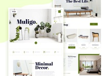 Muligo Minimal Home Decor Website Exploration.
