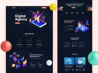 Pohat Digital Agency Dark Landingpage