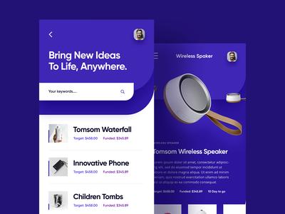 Crowdfunding App Screen