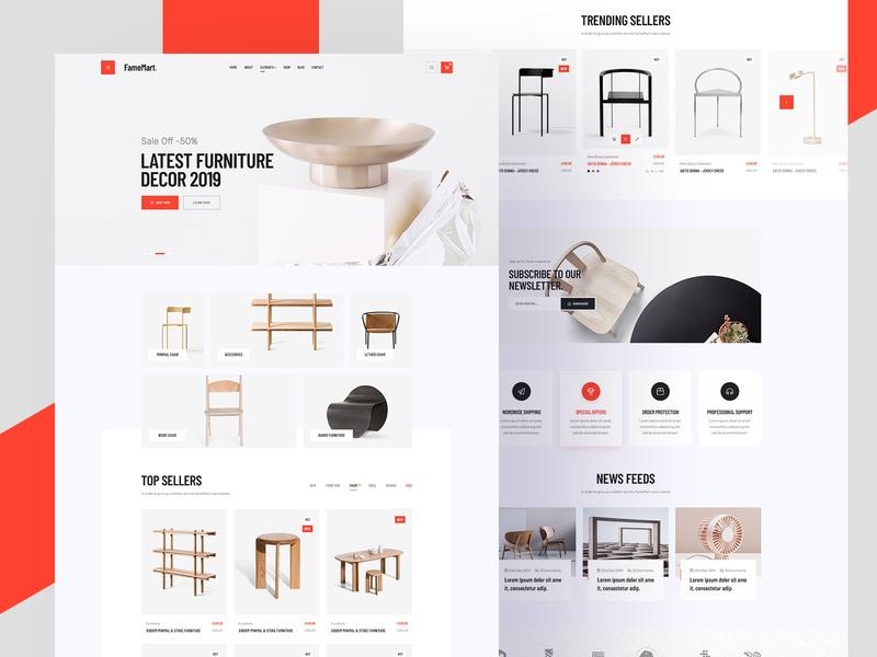 Famemart Minimal Store 2019 trend furniture decor minimal header header minimal ecommerce minimal store minimal website store clean ux ui minimal