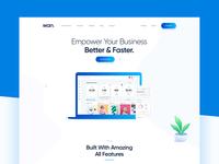 Sass/App Landing Page