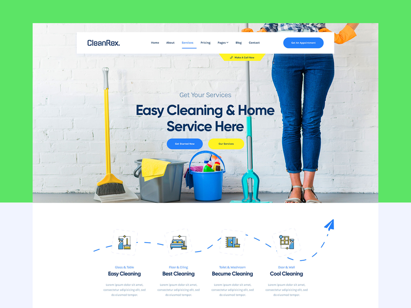 Cleaning Service Homepage clean service cleaning services landingpage header homepage ux ui cleaning company cleaning service clause cleaning