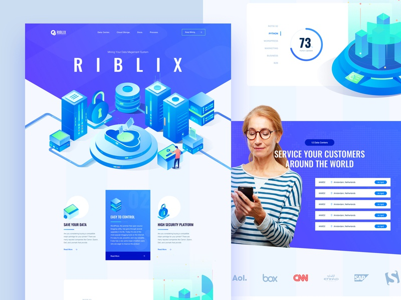 Riblix iSometric Data Mining Platform Website