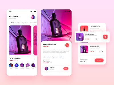 Perfume app design 设计 ux 应用 ui
