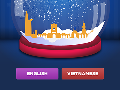 02. landing screen  with languages