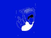 Blue or black  - Intervi Illustration