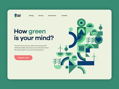 Awareness - Web Design green ui design web design vector ux color illustration flat graphic design design ui