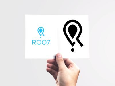 ROO7 R Letter logo design