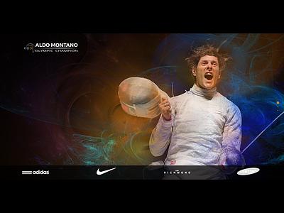 Aldo Montano | Olympic Champion ui ux user interface user experience trending exploration site navigation design prototype concept exercise animation landing page animated web interface